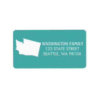Washington State Return Address Labels - Turquoise