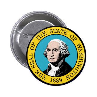 Washington State Seal 6 Cm Round Badge