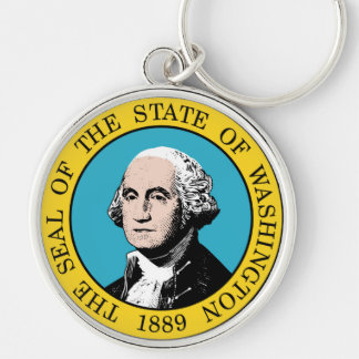 Washington state seal america republic symbol flag key ring