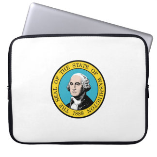 Washington state seal america republic symbol flag laptop sleeve