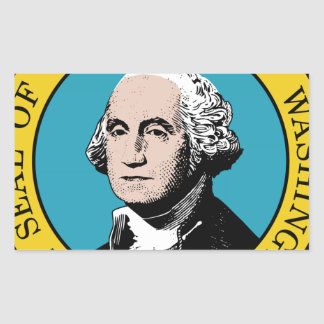 Washington State Seal Rectangle Stickers