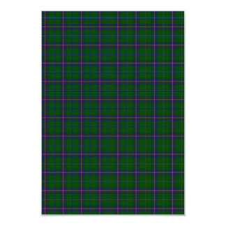 Washington State Tartan 9 Cm X 13 Cm Invitation Card