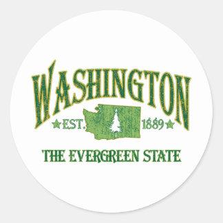 Washington Round Sticker