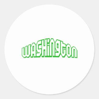 Washington Round Stickers