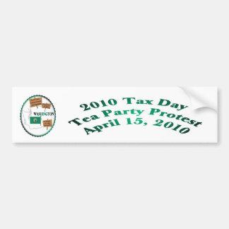 Washington Tax Day Tea Party Protest Bumper Sticker