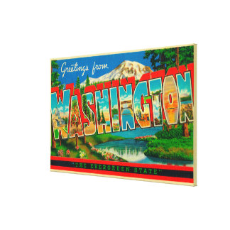 Washington - The Evergreen State Canvas Print