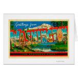 Washington - The Evergreen State Greeting Card