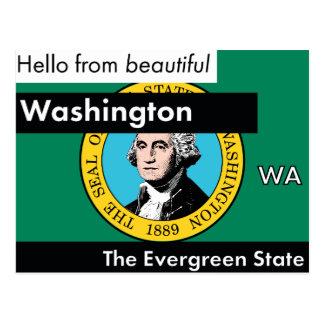 Washington The Evergreen State Postcard