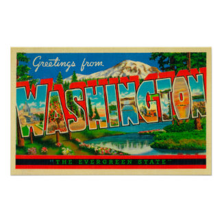 Washington - The Evergreen State Poster