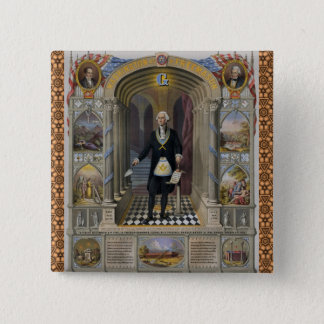 Washington The Mason II 15 Cm Square Badge