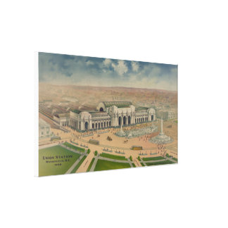 Washington Union Station 1906 Canvas Print