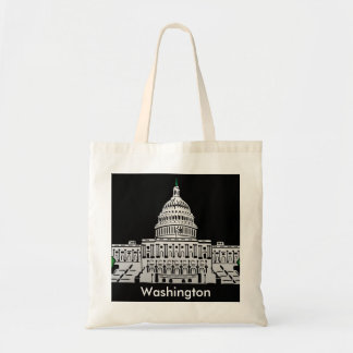 Washington Vintage Travel Tourism Ad Budget Tote Bag