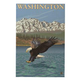 WashingtonDiving Eagle Wood Wall Art