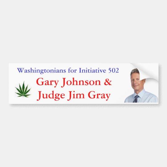 Washingtonians for Initiative 502 Bumper Sticker