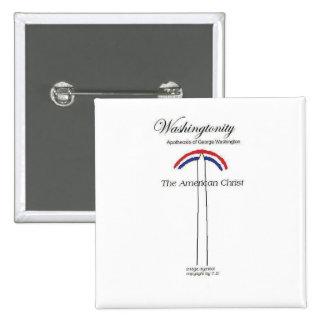 Washingtonity Religion logo 15 Cm Square Badge