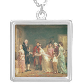 Washington's Birthday, 1798 Silver Plated Necklace