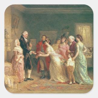 Washington's Birthday, 1798 Square Sticker
