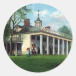 Washington's Homestead Mt. Vernon, VA Round Stickers