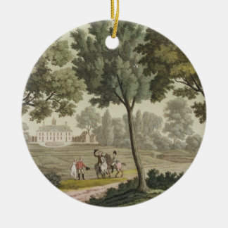 Washington's house at Mount Vernon, from 'Le Costu Round Ceramic Decoration