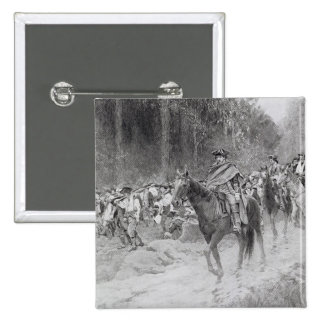 Washington's Retreat from Great Meadows 15 Cm Square Badge