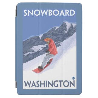 WashingtonSnowboarding Vintage Travel Poster iPad Air Cover