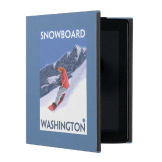 WashingtonSnowboarding Vintage Travel Poster iPad Case