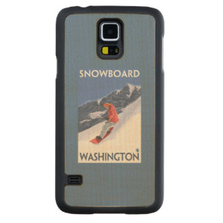WashingtonSnowboarding Vintage Travel Poster Maple Galaxy S5 Case