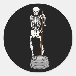Washtub Bass Bones Round Sticker