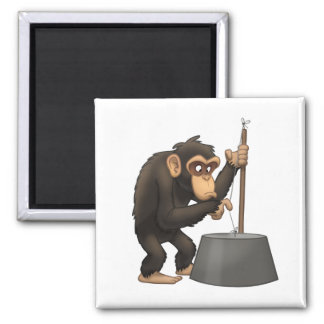 Washtub-Bass-Playin' Chimp Magnet