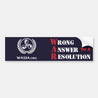 WASIA Bumper Sticker (Black)