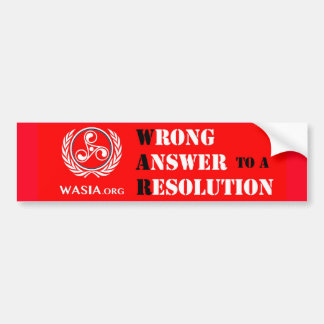 WASIA Bumper Sticker (Red)