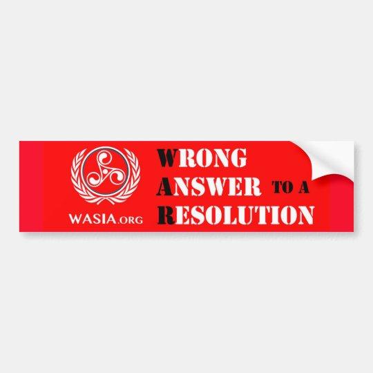 WASIA Bumper Sticker (Red)