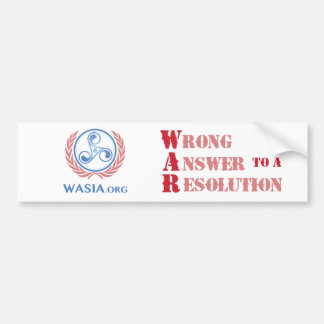 WASIA Bumper Sticker (White)