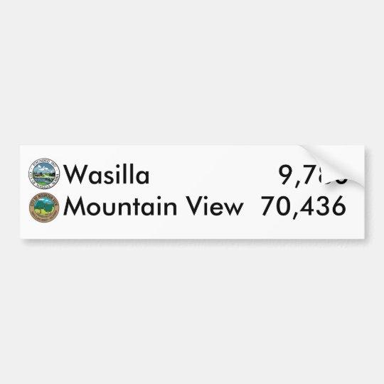 Wasilla vs. Mountain View Bumper Sticker