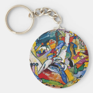 Wasily Kandinsky - Composition II Abstract Oil Art Basic Round Button Key Ring