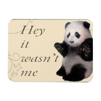 Wasn't Me Panda Magnet