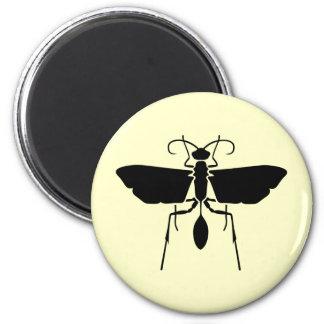 Wasp 6 Cm Round Magnet