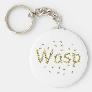 Wasp Basic Round Button Key Ring