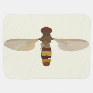 wasp bee insect nature science animal cute yellow baby blanket