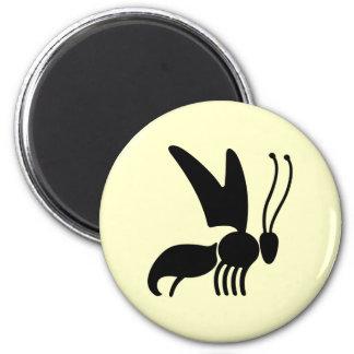 Wasp Illustration 6 Cm Round Magnet