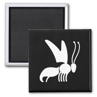 Wasp Illustration Square Magnet