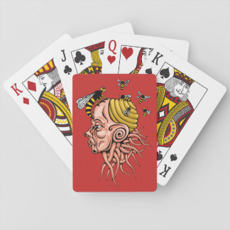 wasp nest - head shape design playing cards