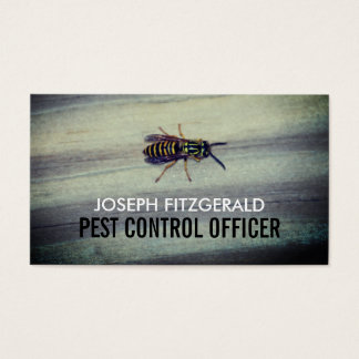 Wasp on Wood, Pest Control Business Card