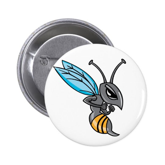 Wasp Sting 6 Cm Round Badge