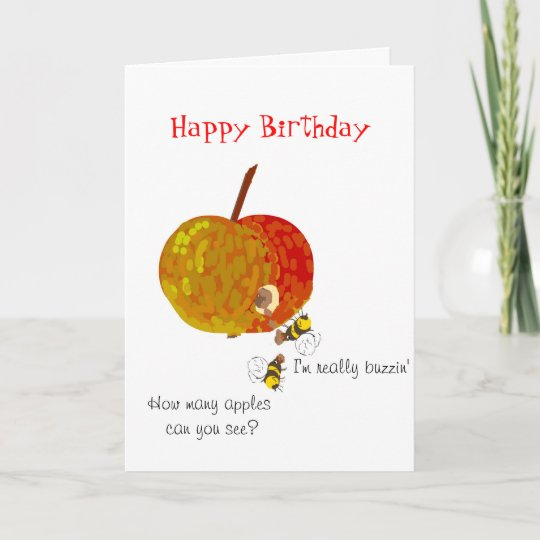 Wasps Drinking Cider Custom Birthday Cards
