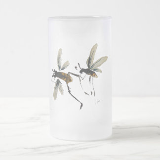 Wasps Frosted Glass Mug