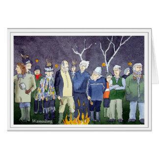 Wassail Bonfire Card