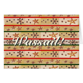 Wassail Wishes Winter Holidays Rustic Prim Greeting Card