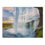 Wasserfall in Island- Postkarte Postcard