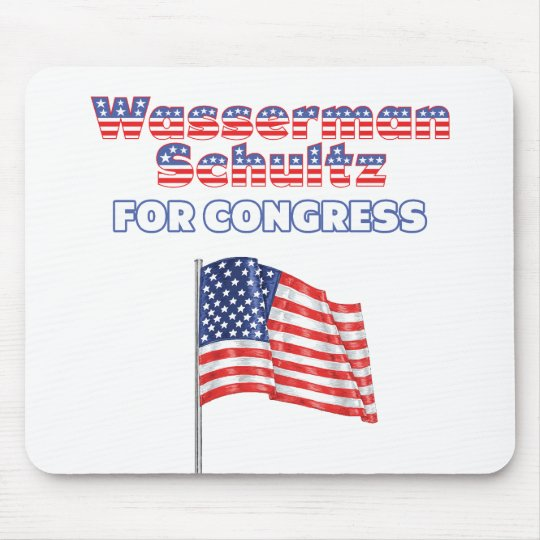 Wasserman Schultz for Congress American Flag Mouse Pad